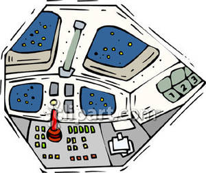 Control panel clipart banner freeuse The Control Panel of a Space Shuttle - Royalty Free Clipart Picture banner freeuse