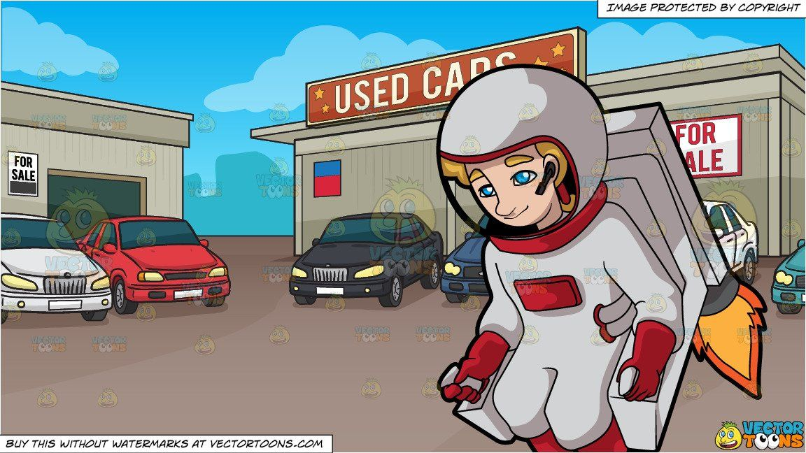Control parking clipart cartoon freeuse stock A Female Astronaut Controlling A Rocket Chair In Outer Space and ... freeuse stock
