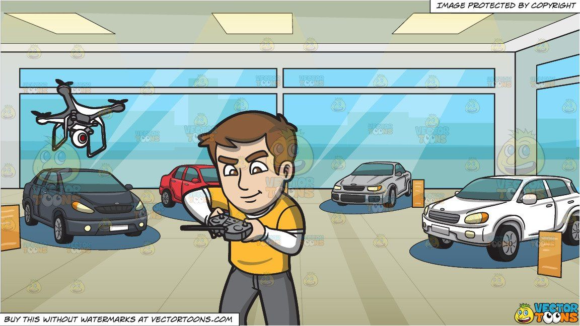 Control parking clipart cartoon jpg black and white stock A Man Tinkering With The Remote Control Of His Flying Drone and ... jpg black and white stock