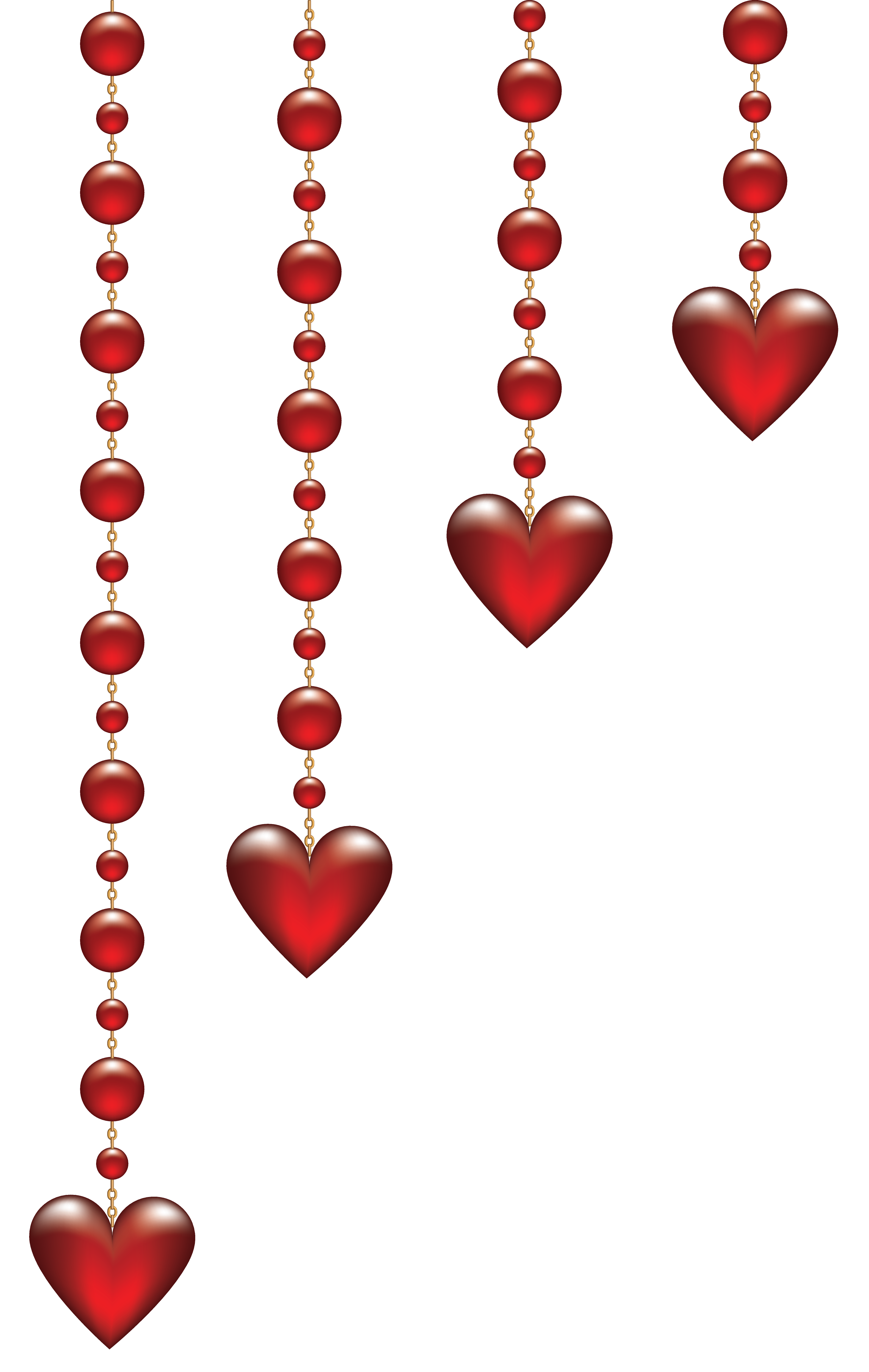Hanging heart clipart image black and white Transparent Valentine Clipart image black and white