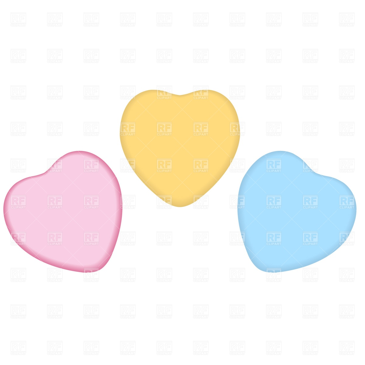 Conversation hearts clipart free vector transparent library Conversation Heart Clipart - Clipart Kid vector transparent library