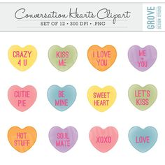 Conversation hearts clipart free banner black and white stock INSTANT DOWNLOAD - Valentine Clip Art - Owl Clipart, Owl Clip Art ... banner black and white stock