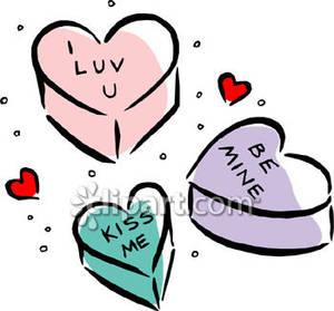 Conversation hearts clipart free stock Conversation hearts clip art - ClipartFest stock