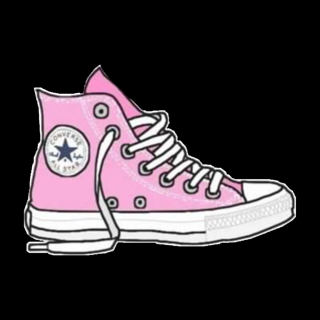 Converse all star clipart jpg transparent stock tumblr cartoon pink converse allstar freetoedit... jpg transparent stock