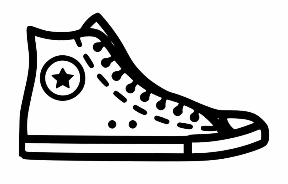 Converse clipart black and white jpg library download Converse Shoe Clipart Png - Converse Clipart Free PNG Images ... jpg library download
