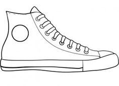 Converse clipart black and white transparent library how to draw converse, how to draw chuck taylors step 6   Elementary ... transparent library