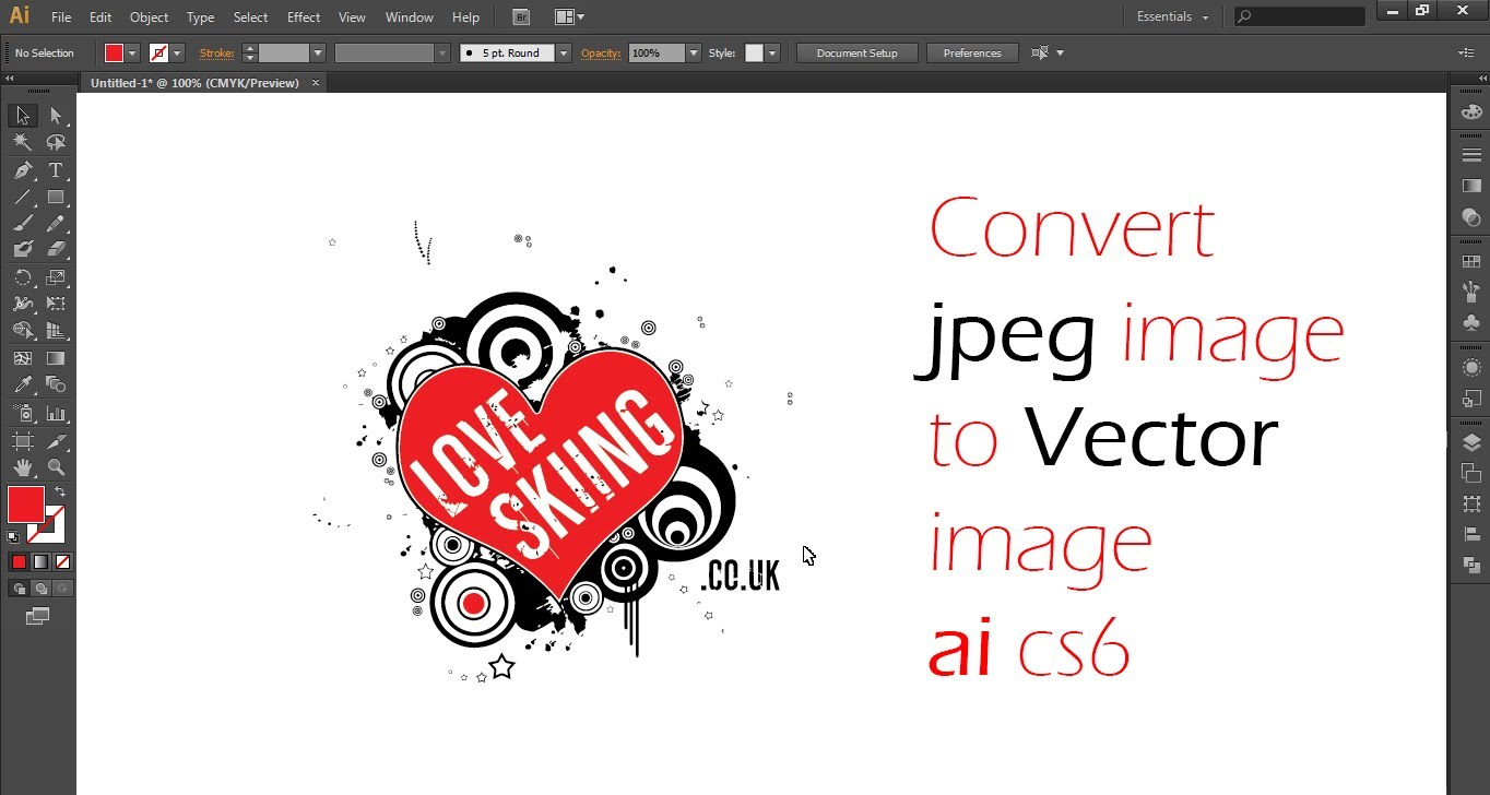 Convert clipart to jpeg picture stock How to Convert A Jpeg Into Vector In Illustrator CS 6 - YouTube picture stock