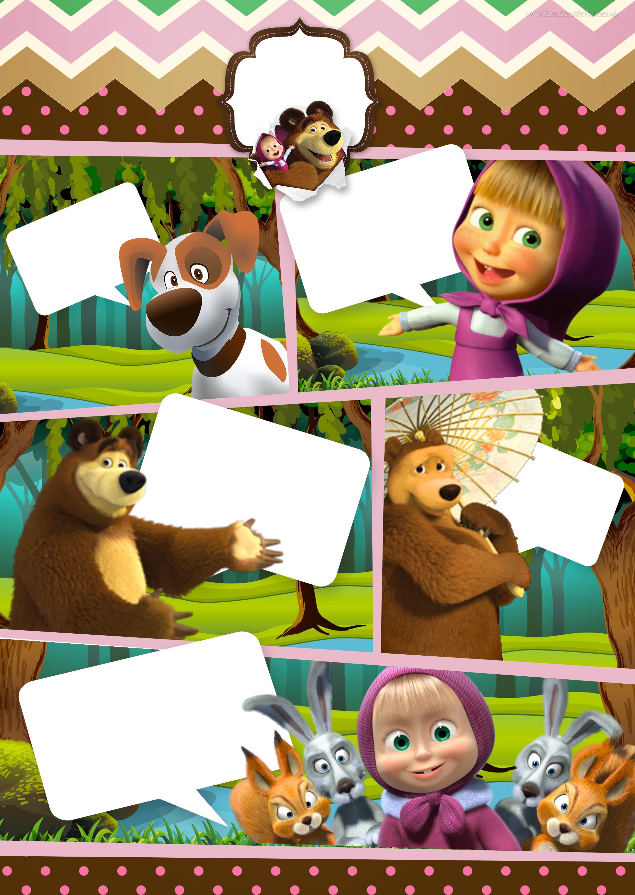 Convite masha eo urso clipart graphic free library Convite Gibi Festa Masha e o Urso 6 - Fazendo a Nossa Festa graphic free library
