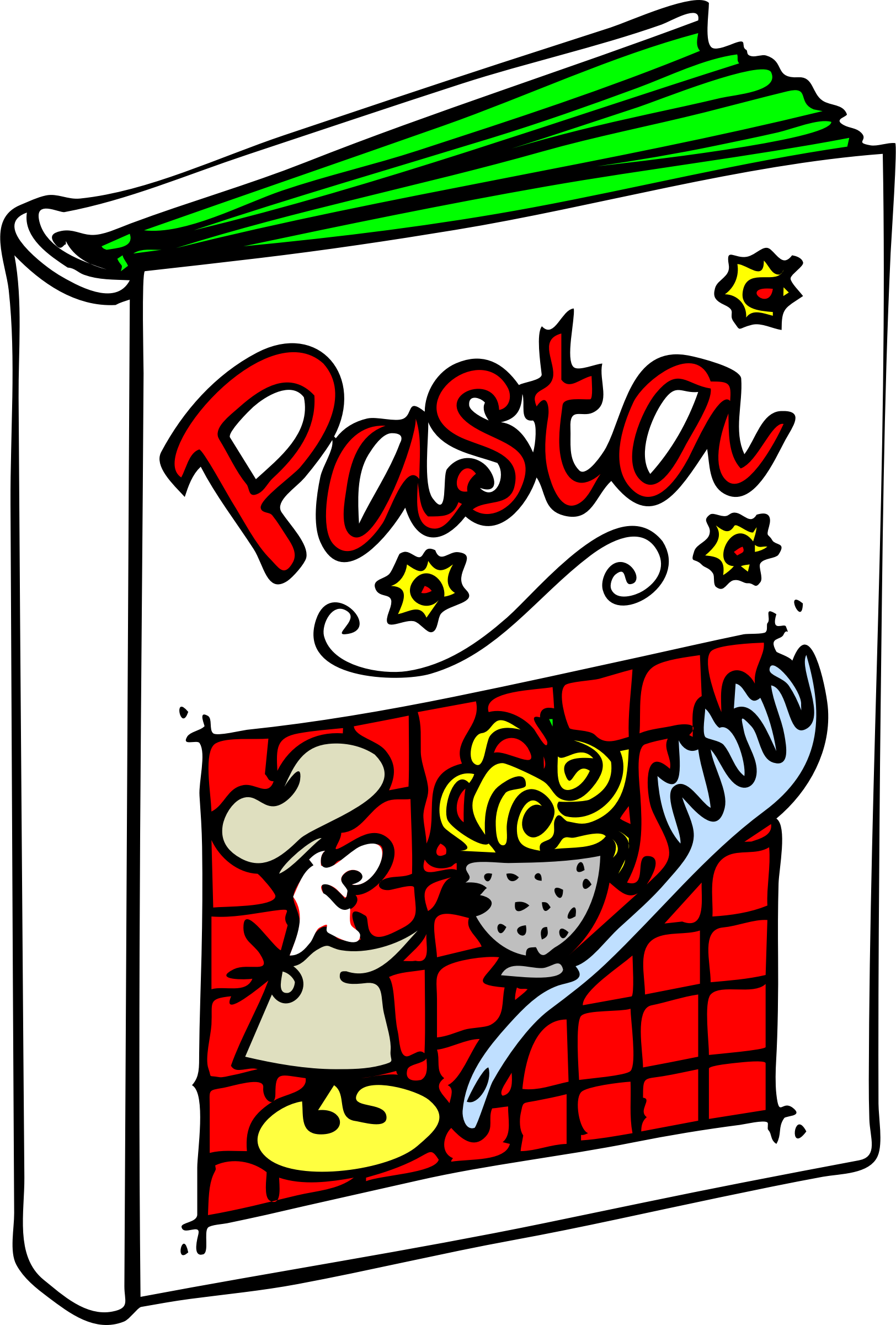 Cook book clipart free library Clipart - Pasta Cookbook free library
