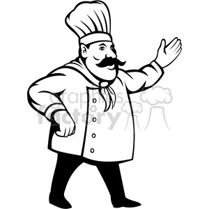Nationjar clipart image stock chef holding out his hand black white clip art clipart. Royalty-free  clipart # 388345 image stock
