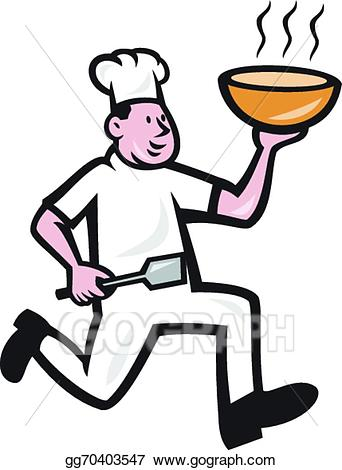 Cook holding a banner from the side clipart clipart Vector Illustration - Fat chef cook holding bowl cartoon. Stock Clip ... clipart