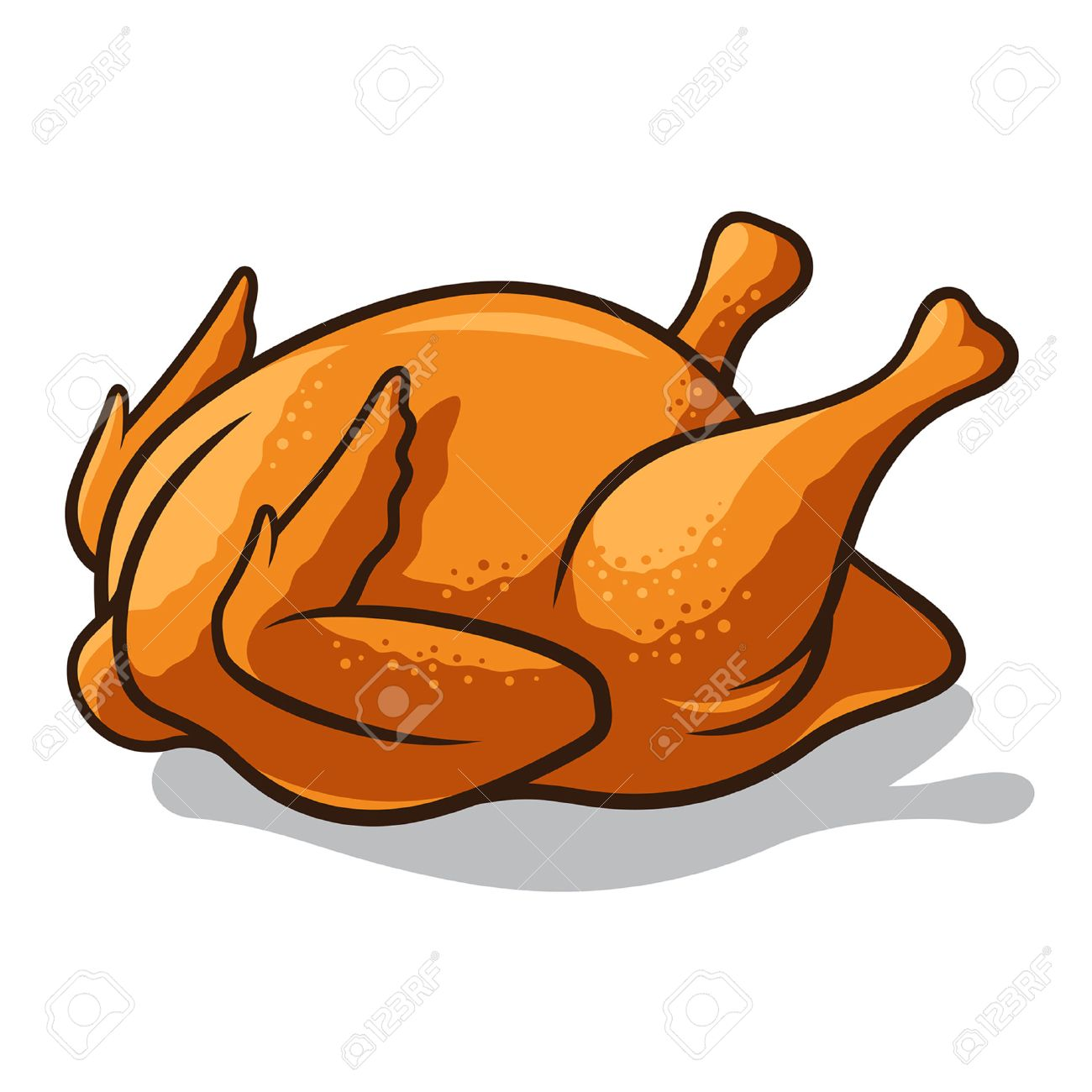 Cooked chicken clipart clipart transparent library Roasted chicken clipart 6 » Clipart Station clipart transparent library