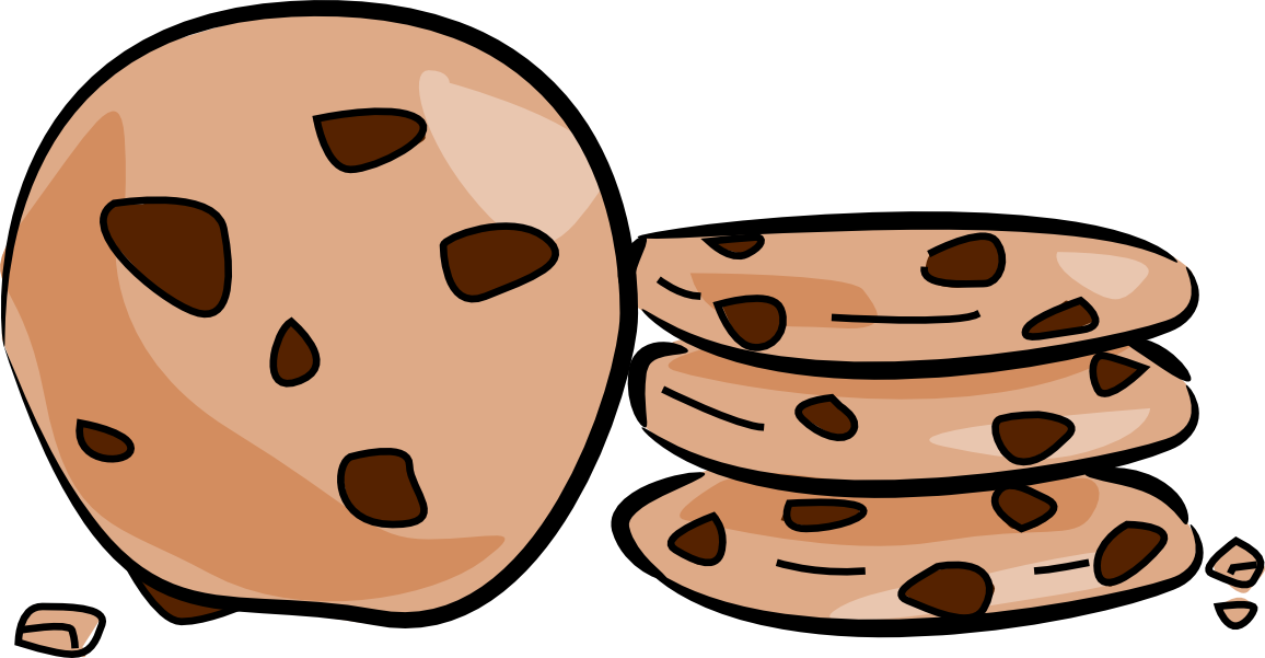 Cookiecake clipart clipart black and white Chocolate chip cookie Cookie cake Clip art - Chocolate Chip ... clipart black and white