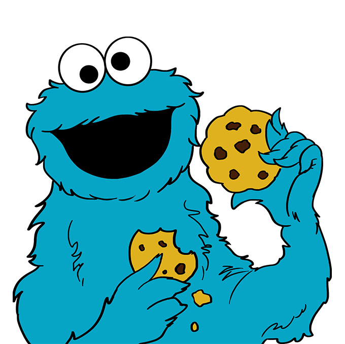 Cookie monster c is for cookie clipart graphic transparent stock How to Draw Cookie Monster from Sesame Street | Easy Drawing Guides graphic transparent stock