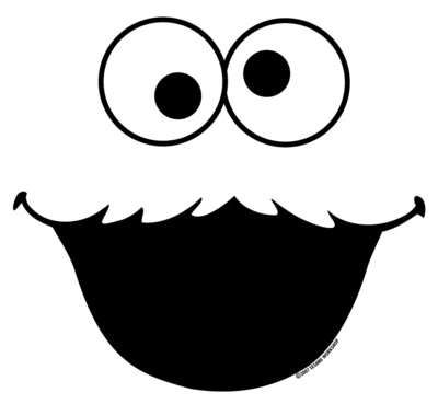 Cookie monster clipart face black and white jpg black and white download 7 Best Images of Sesame Street Face Templates Printable - Sesame ... jpg black and white download
