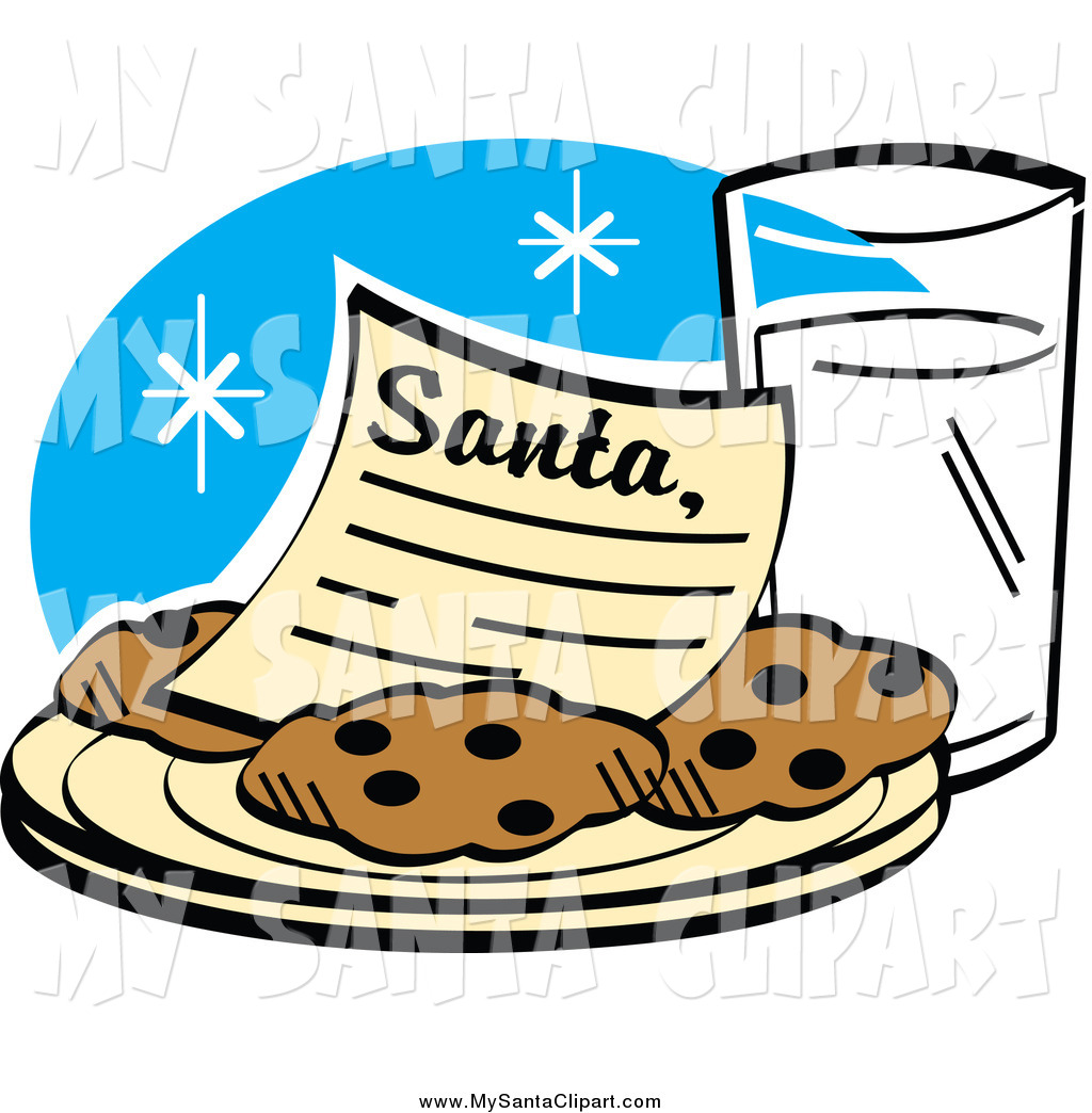 Cookies and milk for santa clipart image freeuse library Christmas Clip Art of a Dear Santa Letter on a Plate of Cookies ... image freeuse library
