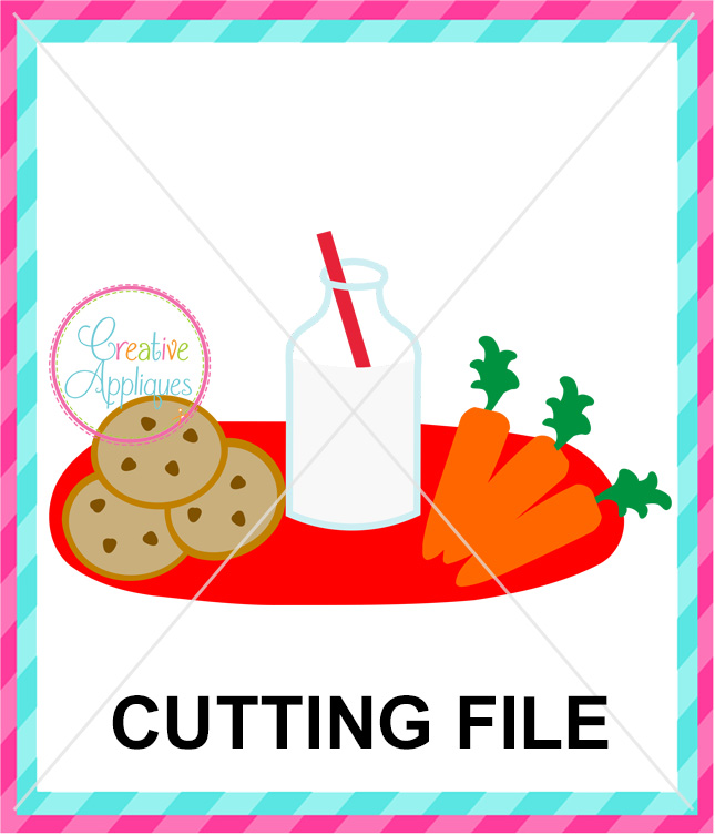 Cookies and milk for santa clipart clipart library Cookies Milk Carrots Cut File clipart library