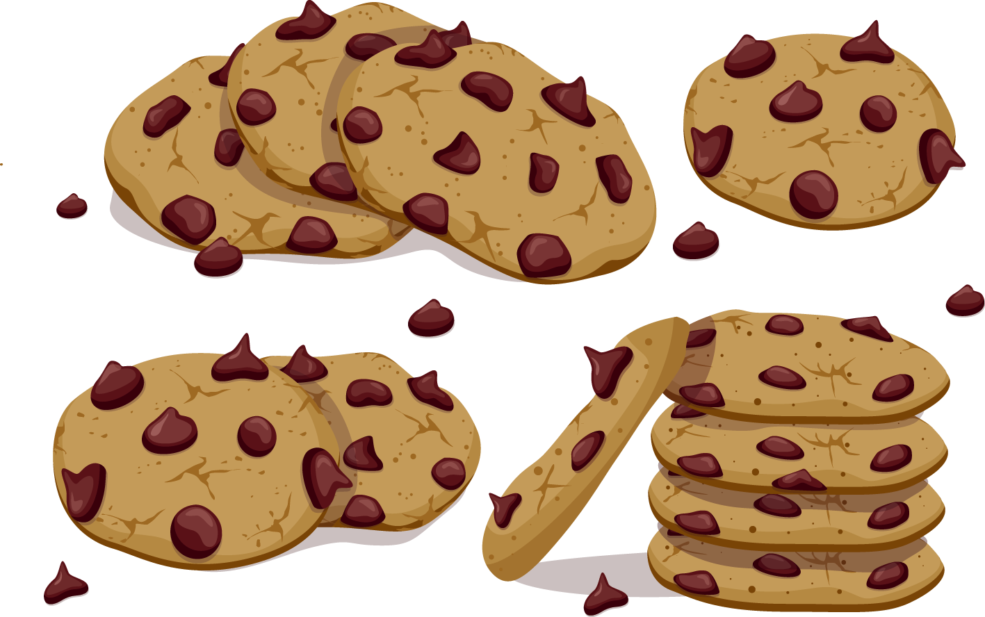 Cookies clipart vector clip transparent download HD Chocolate Chip Cookie - Cookies Vector Png Transparent PNG Image ... clip transparent download