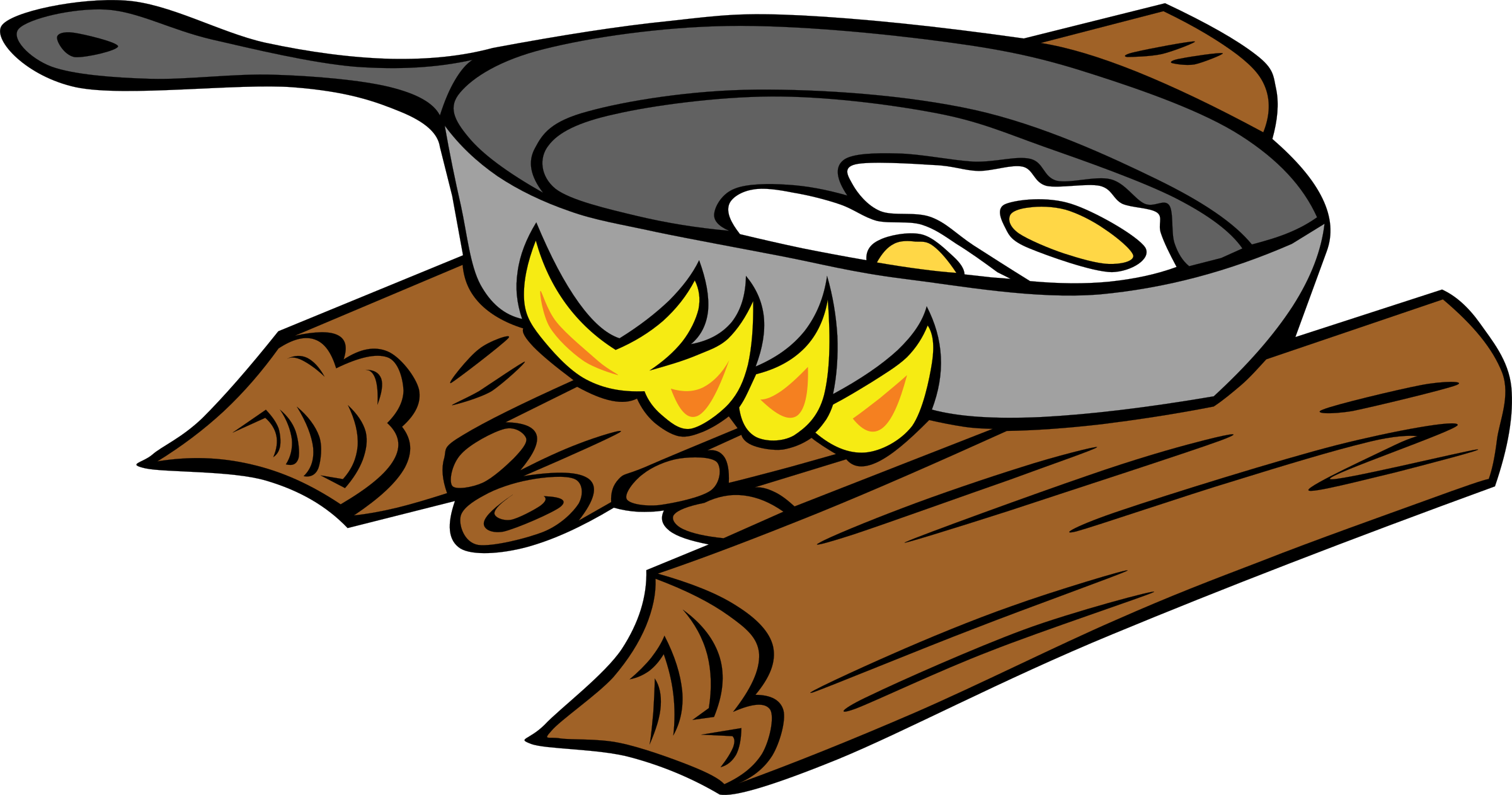 Cooking by the book clipart freeuse Clipart - Campfires and cooking cranes freeuse