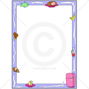 Cooking clip art borders. Kitchen clipart kid best