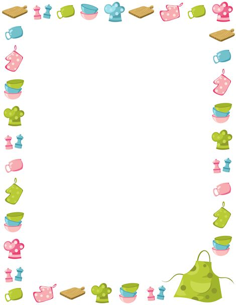 Clipartfest free border clipart. Cooking clip art borders