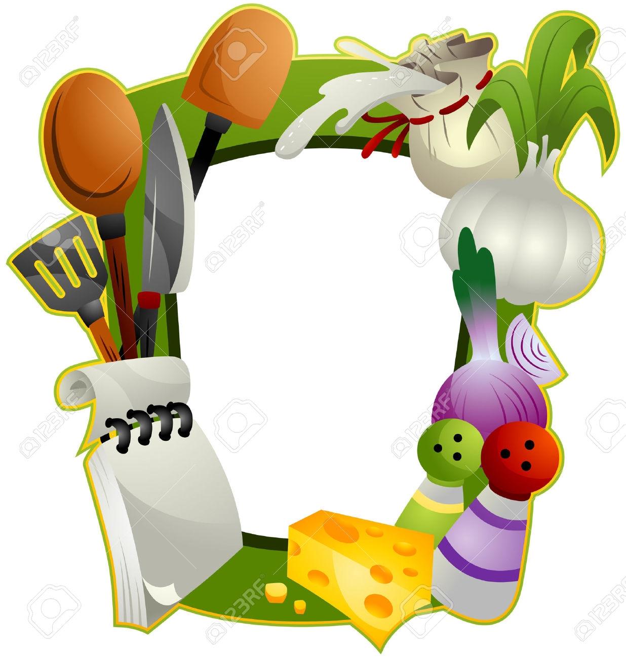Cooking clip art borders clip art free Clipart food borders frames - ClipartFest clip art free