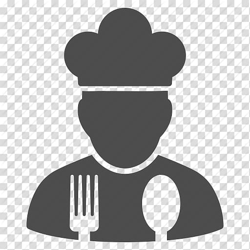 Cooking icon clipart stock Silhouette of chef illustration, Chef\\\'s uniform Cooking Computer ... stock