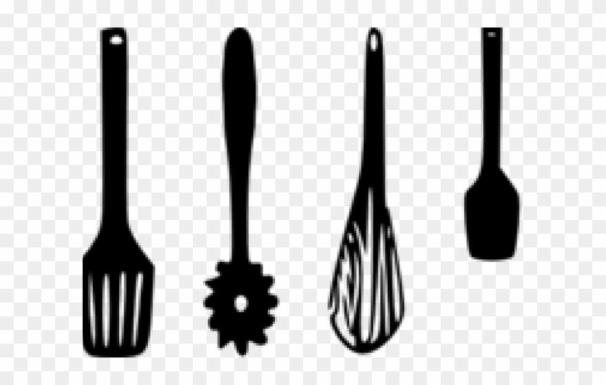 Kitchen utensil clipart free download Kitchen Clipart Crockery - Kitchen Utensils Clipart Black And White ... free download