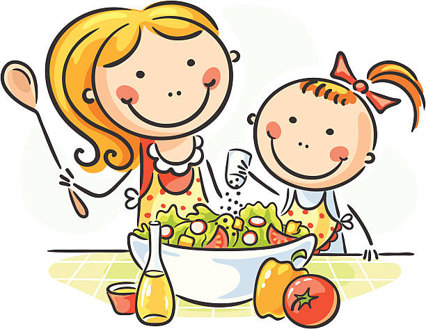 Kitchen clipart for kids clip royalty free Children Cooking Clipart | Free download best Children Cooking ... clip royalty free
