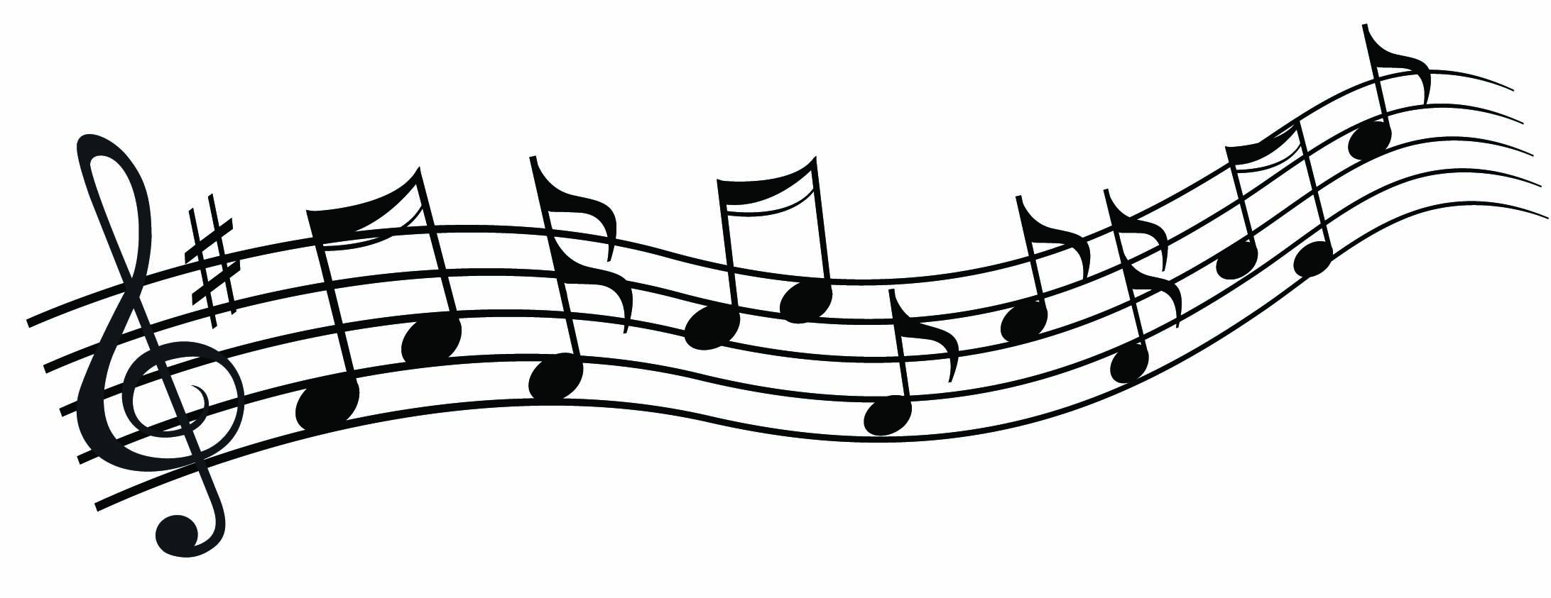 Free music clipart. Black and white download