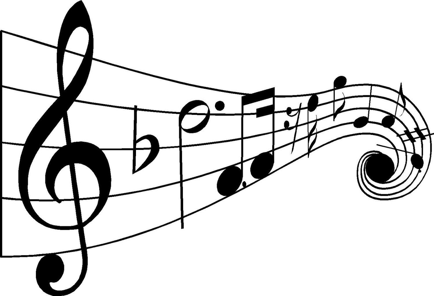 Musical notes clipart black and white clip art library stock Free Black And White Music Pictures, Download Free Clip Art, Free ... clip art library stock