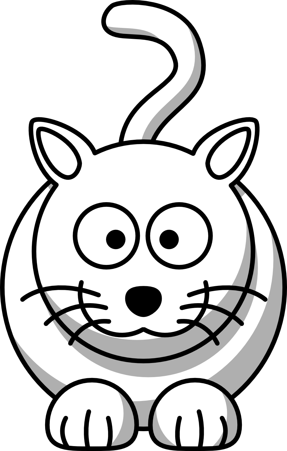 Cool cat black and white clipart picture free stock clipartist.net » Clip Art » cat black white line animal SVG picture free stock