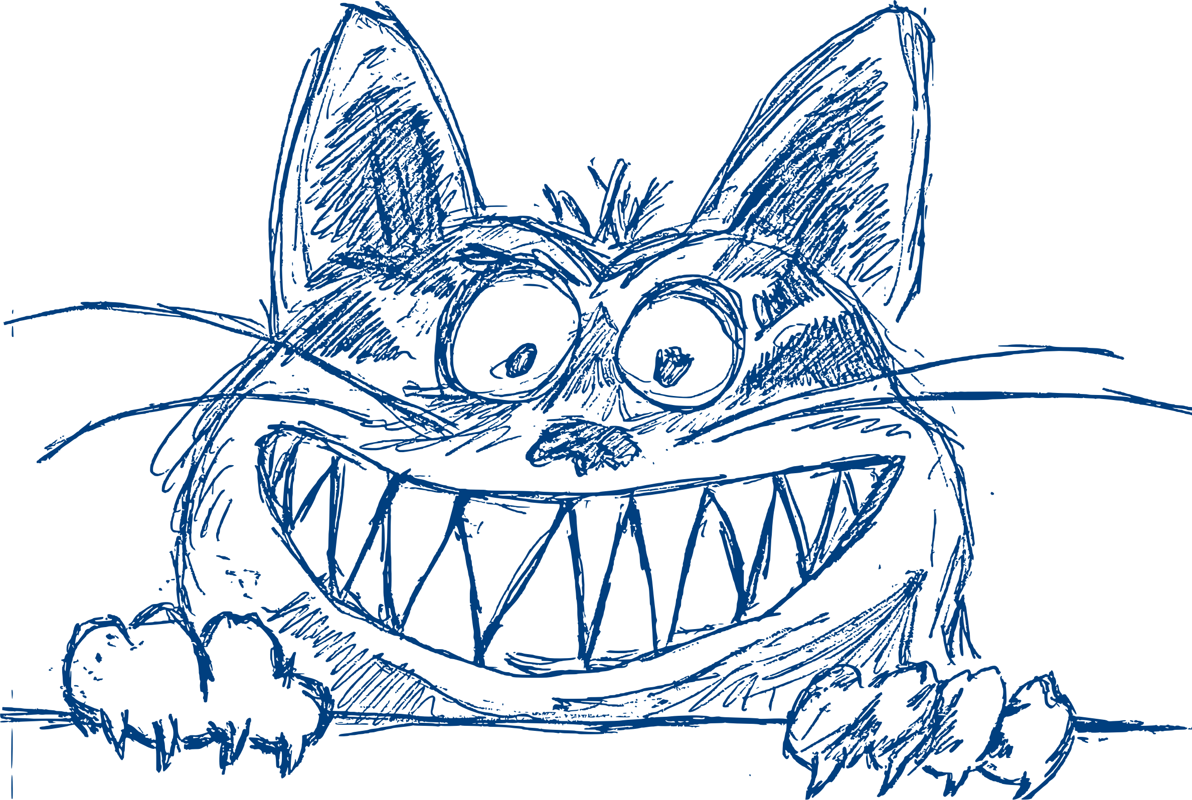Cool cat black and white clipart banner free download Crazy Cool Cat in Blue Icons PNG - Free PNG and Icons Downloads banner free download