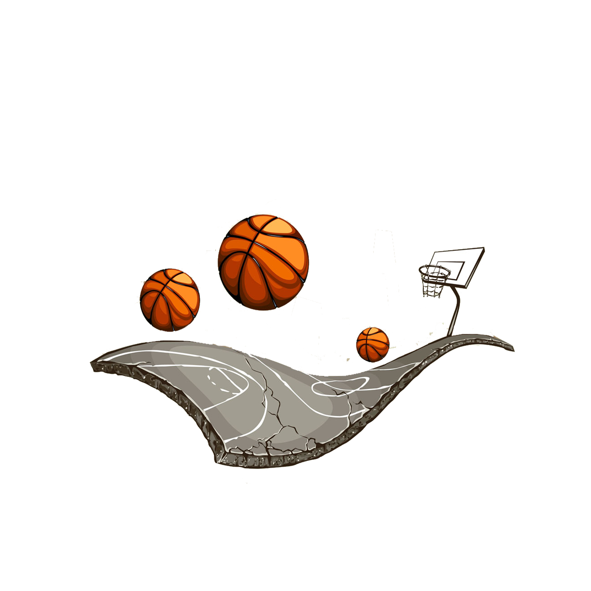 Cool clipart of basketball court download Basketball court Streetball Clip art - Basketball court and ... download