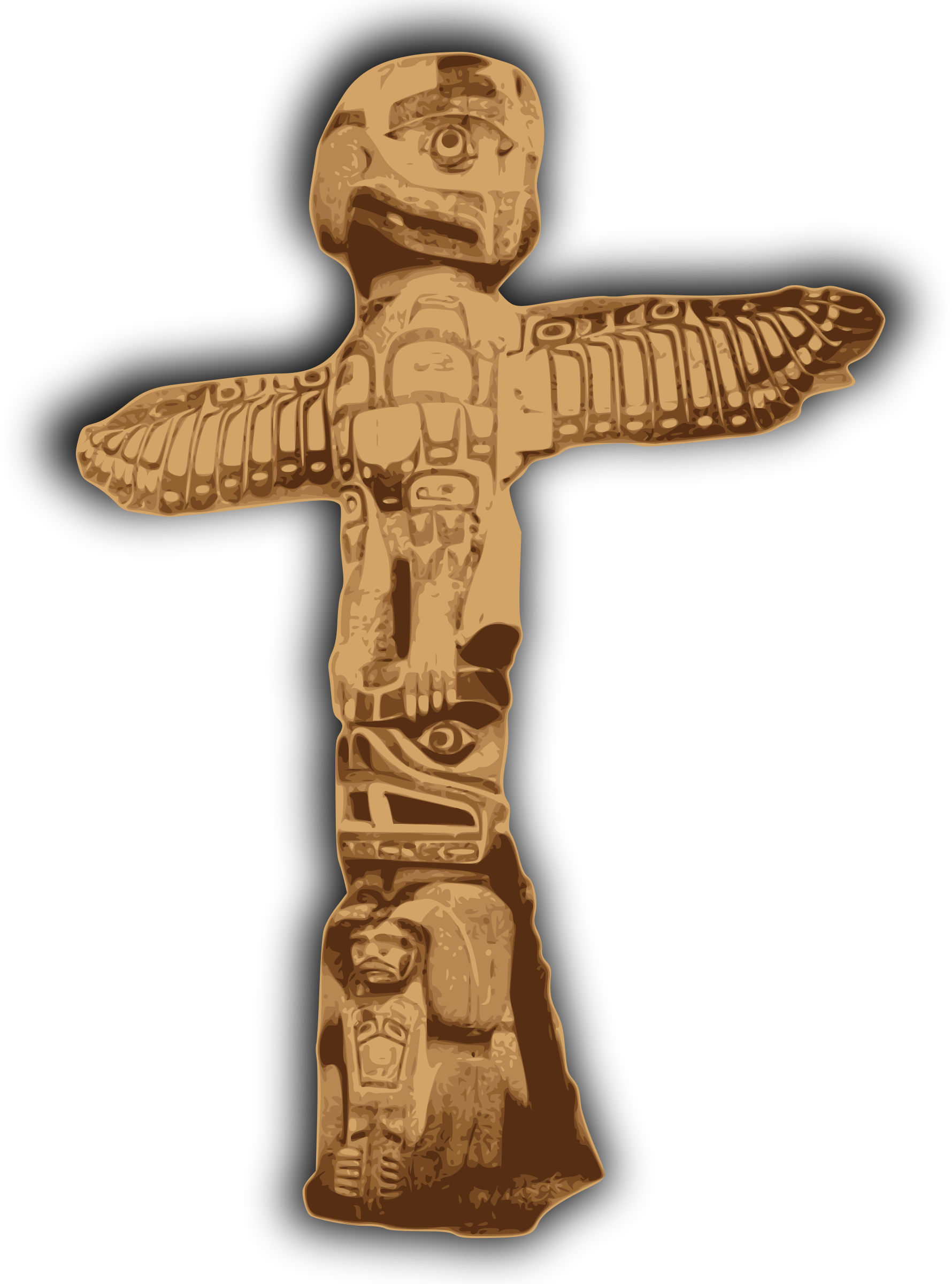 Public domain cross clipart image royalty free library Clipart - Totem Pole image royalty free library