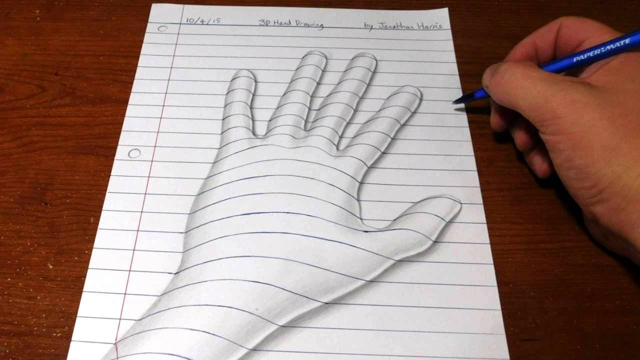 Cool designs coming out of a hand clipart svg transparent download How to Draw a 3D Hand - Trick Art Optical Illusion svg transparent download
