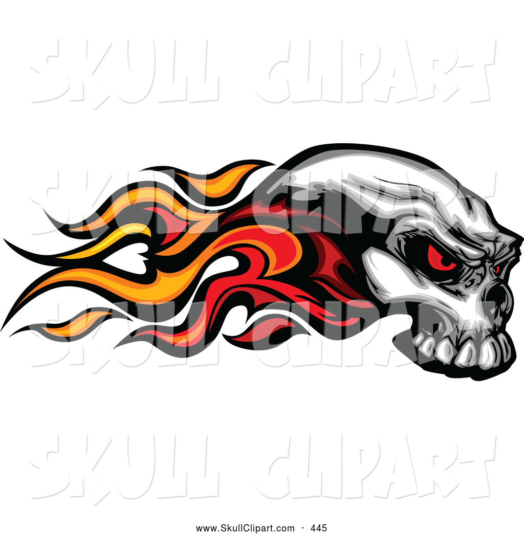 Cool flaming skull clipart graphic library Flaming Skull Clipart - Clipart Kid graphic library