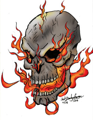 Cool flaming skull clipart.  best images about