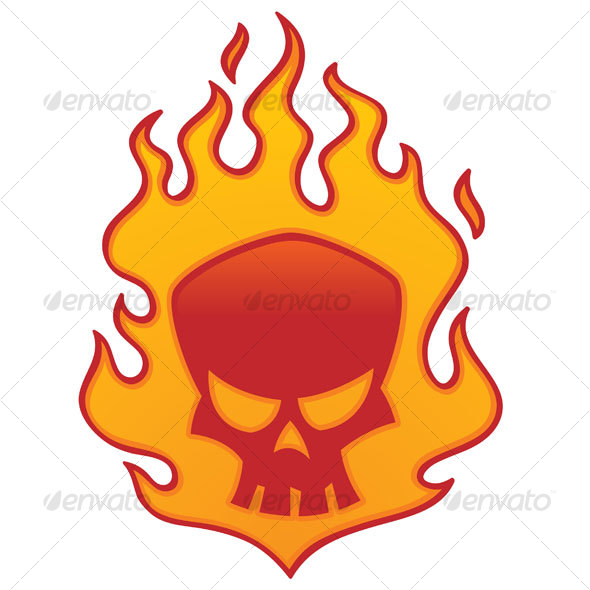 Cool flaming skull clipart graphic free download Flaming Skull by fizzgig | GraphicRiver graphic free download