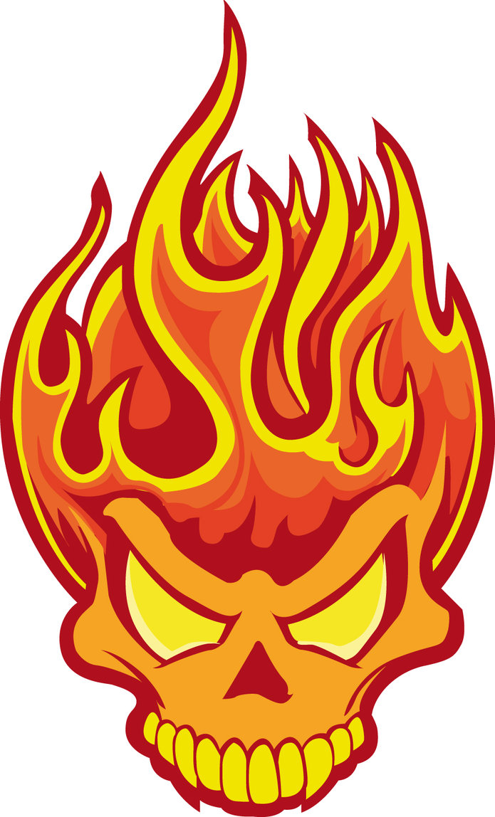 Cool flaming skull clipart. Flame image best