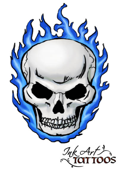 Cool flaming skull clipart. Clipartfest tattoos pictures