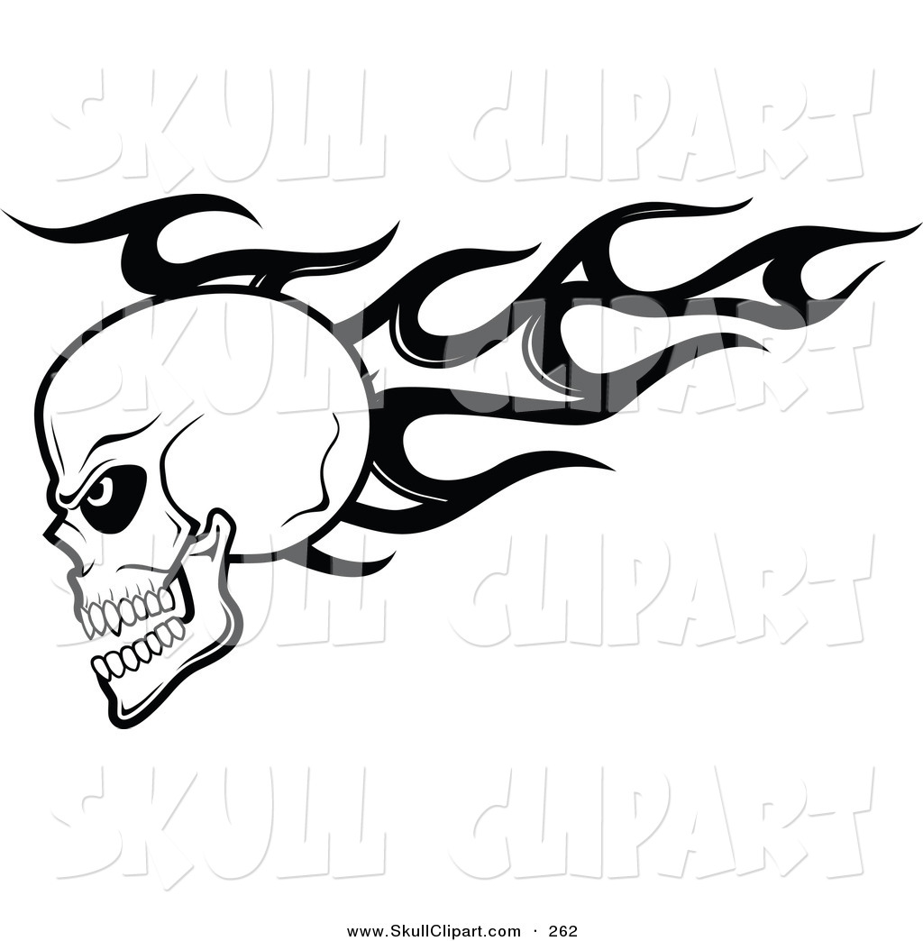 Cool flaming skull clipart clip black and white stock Cool flaming skull clipart - ClipartFest clip black and white stock
