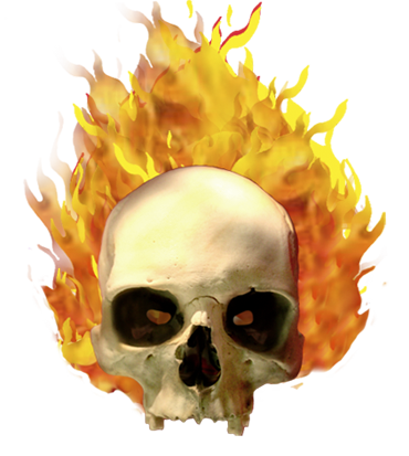 Cool flaming skull clipart. Clipartfest on fire clip