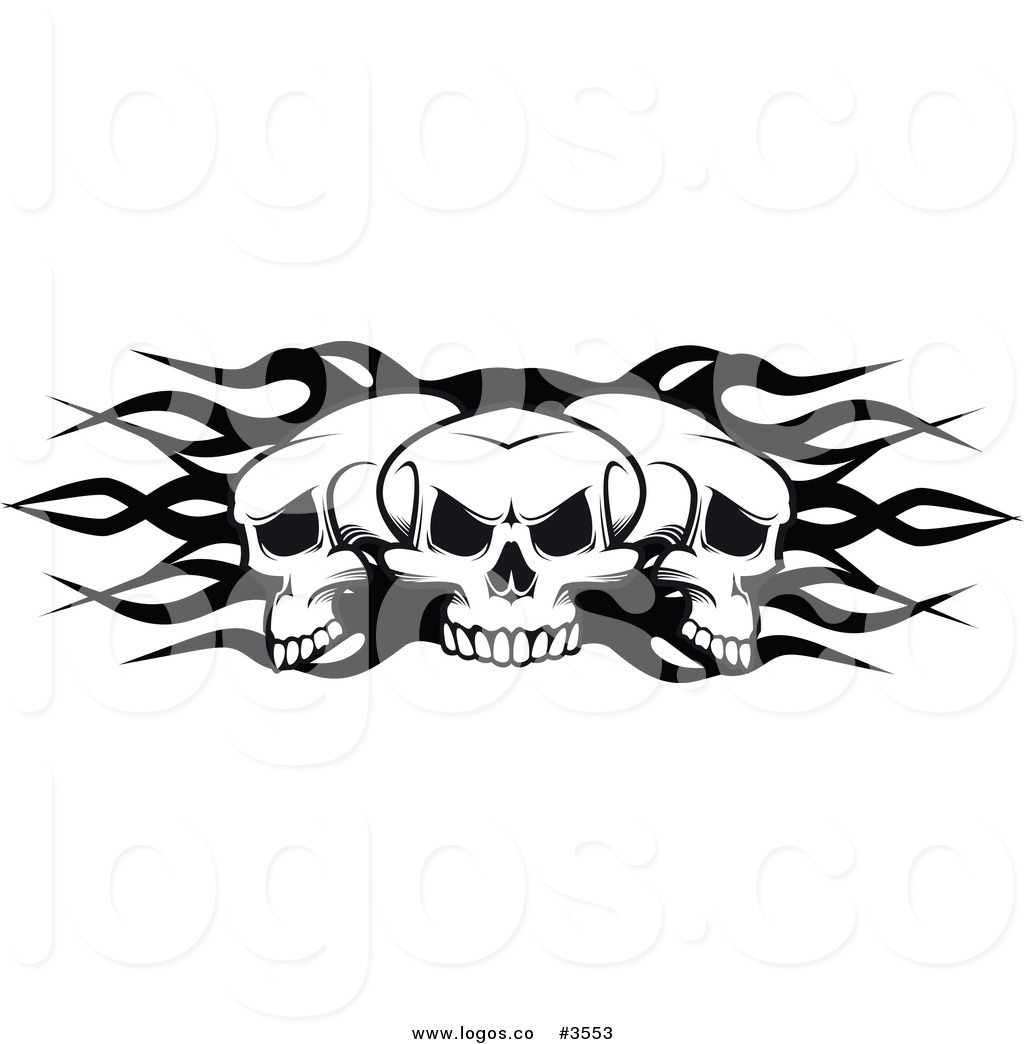 Cool flaming skull clipart picture black and white stock Cool flaming skull clipart - ClipartFest picture black and white stock