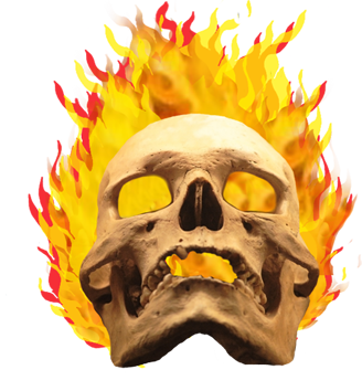 Cool flaming skull clipart graphic black and white Cool Skull Clip Art (and Funny!) graphic black and white