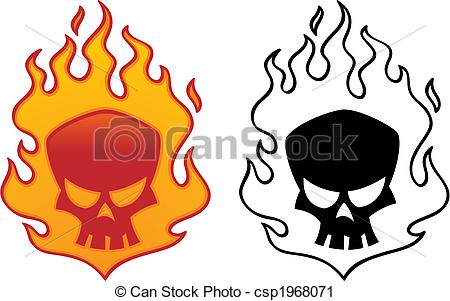 Cool flaming skull clipart. Clipartfest csp