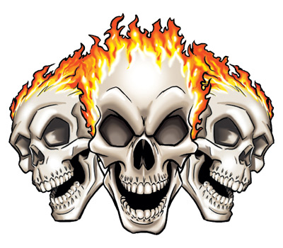 Cool flaming skull clipart. Pics of skulls free