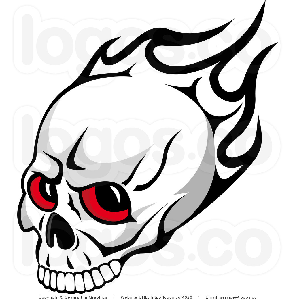 Of skulls clipartfox flame. Cool flaming skull clipart