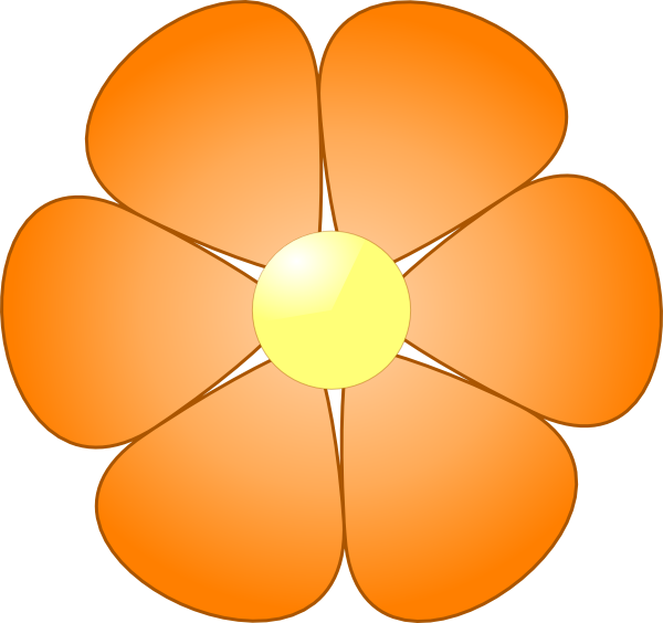 Orange flower clipart clip black and white download Daisy Flower Clipart at GetDrawings.com | Free for personal use ... clip black and white download