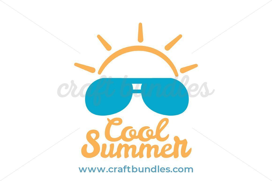Cool for the summer clipart royalty free Cool Summer SVG Cut File By CraftBundles.com Summer clip art, summer ... royalty free